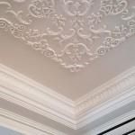 Lipdiniai, lubų dekoras lipdiniais, Lubines juostos